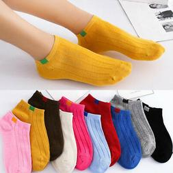 1/5 Pairs Unisex Casual Cotton Socks Ankle Boat Socks for Me