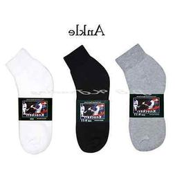 1 Dozen 12 Pairs Knocker Men Thick Sports Cotton Ankle Socks
