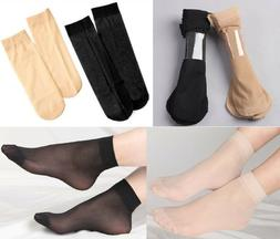 10 Pairs Women's Medias Silk Stockings Ankle Socks Hosiery N