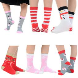 12 Pairs Girls Boys Winter Christmas Novelty Ankle Socks 6 F