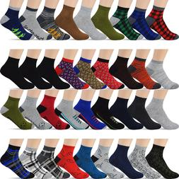 12 Pairs Men's Ankle Low Cut Socks - For Men Shoe Size 8-12