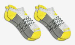 2-Pack Bombas Men's Ankle Socks ~Yellow-Gray-Dark~ Honeycomb