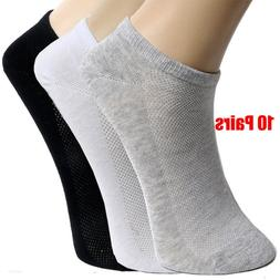 20Pcs=10Pair Solid Mesh Men's <font><b>Socks</b></font> Invi