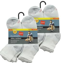 24-Pack Hanes Men's Premium Cushion Ankle Socks, Shoe Size 6