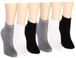 3-12 Pairs Women's Ankle Socks Cotton Girls Low Cut Assorted