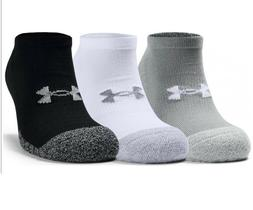 3 PACK - Under Armour Heat Gear No Show Ankle Socks - Fitnes