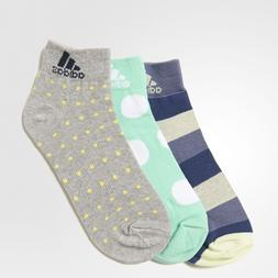 adidas 3 PACK Women's Thin Ankle Socks Graphic Print Multipa