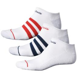 3 Pair Adidas No Show Socks, Men's Shoe Size 6-12, White, An