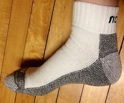 12 Pairs Men's White Snap On ANKLE Socks L ~ FREE Shipping ~
