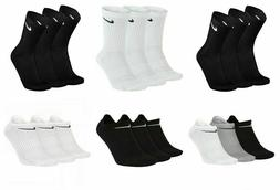 3 Pairs Nike Socks Mens Womens Crew Ankle Liner Cotton Sport