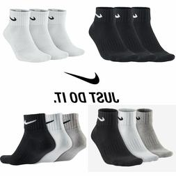 Nike 3 Pairs Unisex Mens Womens QUARTER Ankle Sports Socks C