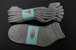 3PAIR Diabetic Men/WOMEN ANKLE Socks 9-11 GRAY Cotton(FOR DI
