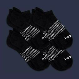 4-Pack Bombas Men's Ankle Socks Black Honeycomb Large 7-12 N