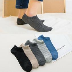 5 Pair Male Brand Sock Men Cotton Low Cut Ankle Business Soi