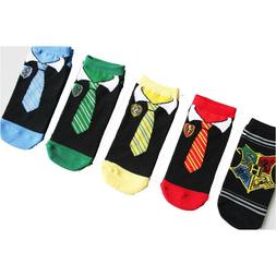 5 Pairs Boy Girl Anime Sock Cotton Ankle Socks Comic Harry P