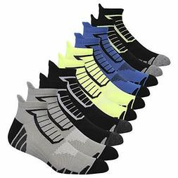 5 Pairs Men's Performance Athletic Breathable Ankle Socks Lo