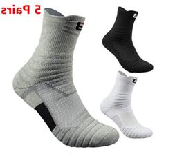 5pack mens elite basketball socks dri fit