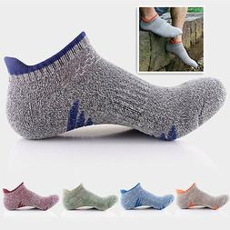 5pairs Men's Quick Dry Ankle Socks Cotton Riding Skating Spo
