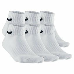 Nike 6 Pacl Bag Cotton Quarter Socks Style: SX4439-101 Size: