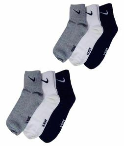 6 PAIR NIKE SOCKS FOR MEN SELF DESIGN ANKLE LENGTH SPORTS SO