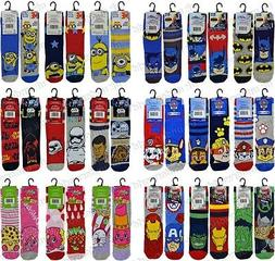 6 Pairs Childrens Boys Girls Official Character Socks Novelt