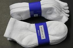6PAIR Diabetic Men/WOMEN ANKLE Socks 9-11 WHITE Cotton(FOR D