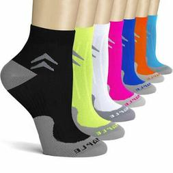 Bluemaple 7 Pair Compression Socks for Women and Men Compres