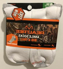 8 Pair of Realtree Men's Big & Tall Ankle or Crew Socks Fits