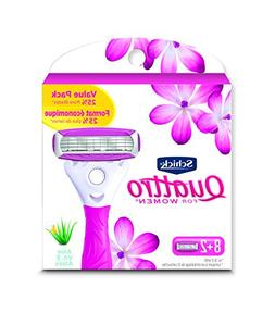 Schick Quattro Ultra Smooth Razor Blade Refills for Women Va