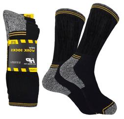 4 Pk ANKLE PREMIUM QUALITY HEAVY CUSHION SOCKS COTTON BLACK