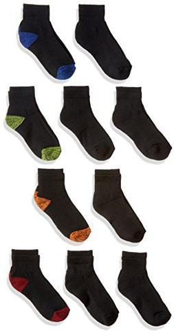 Fruit of the Loom Boys' Ankle Socks, 10-Pack