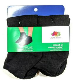 Fruit of the Loom men's 6 pack of ankle socks