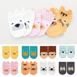 Baby Boy Girls Toddler Ankle Socks Cartoon Animal Anti Slip