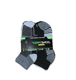 Big And Tall 12-16 Men's Zone Pro Half Cushion Ankle Socks