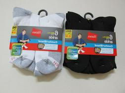 Hanes Big Tall ComfortBlend Ankle Sock Men Shoe Size12-14 XL
