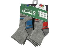 Boys Fruit Of The Loom 6 Active Ankle L/G  Socks.. NEW!!!!