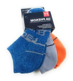 Under Armour Boys No Show Socks 13.5-4 Youth Low Cut Ankle I