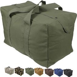 Canvas Cargo Bag Tactical Heavy Duty Cotton Large Military P
