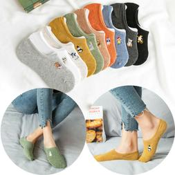 Color Fashion Cartoon Animal Novelty Embroidered Ankle Socks
