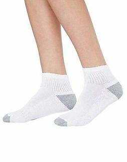 HANES Cushioned Women's Ankle Athletic Socks - 10 Pairs - 68