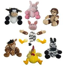 Set Of 6 Cute Swapets Plush Stuffed Animals Toys Magnetic Pa
