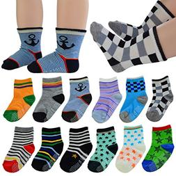 12 Pairs Baby's Cute Warm Cotton Socks , Lystaii Soft Anti S