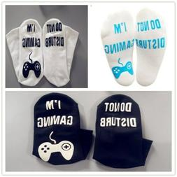 Do Not Disturb' I'm Playing Gaming' Funny Ankle Socks - Nove