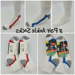 Hanes Men's FreshIQ X-Temp Active Cool Ankle Socks 4-Pack As