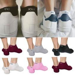 Fuck-Off Letters Women Men Ankle Socks Unisex Cotton Novelty