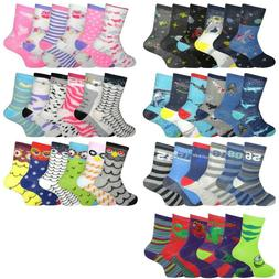 Girls Boys Socks 6 Pairs Novelty Character Childrens Kids Fu