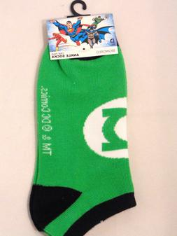 Green Lantern Boys Ankle Socks Size 9-11 One Pair DC Comics