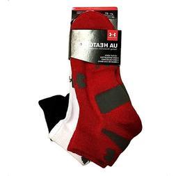Under Armour Heatgear Kids Lo Cut Socks 3 Pack Youth Large 4