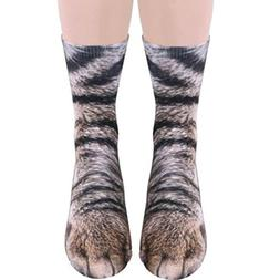 Lisin Hot Sell Socks,Women Man Adult Unisex Animal Paw Crew