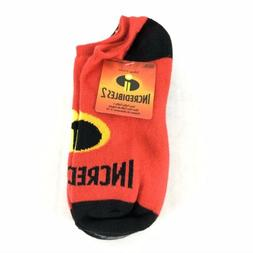 Incredibles 2 Boys Ankle Socks 6 Pairs Cartoon Novelty Size